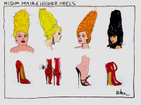 HIGH HAIR AND HIGHER HEELS